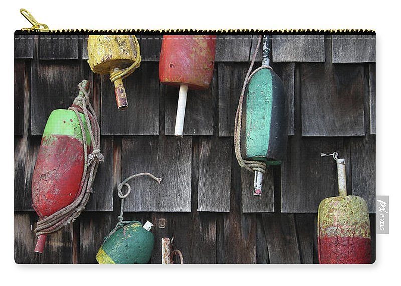 Cedar Tree Carry-all Pouch featuring the photograph Crab Pot Floats by Photo By Wayne Bierbaum; Annapolis, Maryland