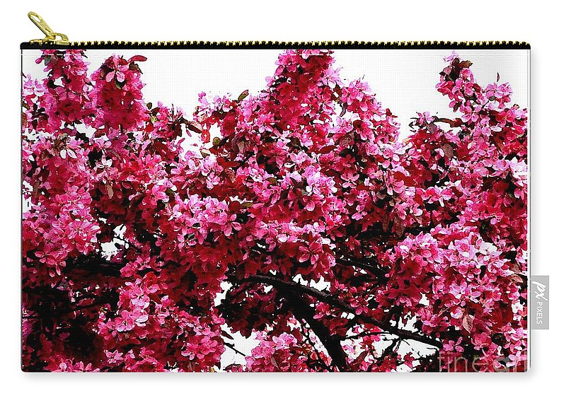 Crabapple Blossoms Carry-all Pouch featuring the photograph Crabapple Tree Blossoms by Rose Santuci-Sofranko