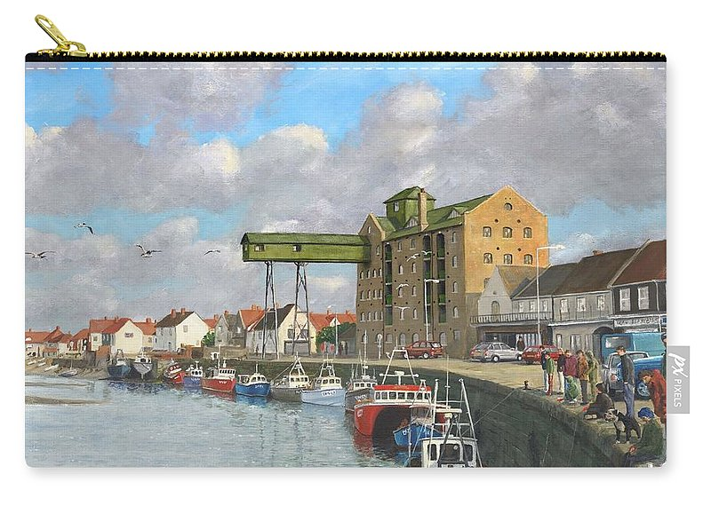 Landscape Carry-all Pouch featuring the painting Crabbing - Wells-next-the-sea Norfolk by Richard Harpum