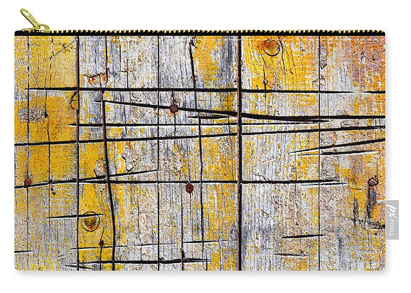 Abstract Carry-all Pouch featuring the photograph Cracked Wood Background by Carlos Caetano