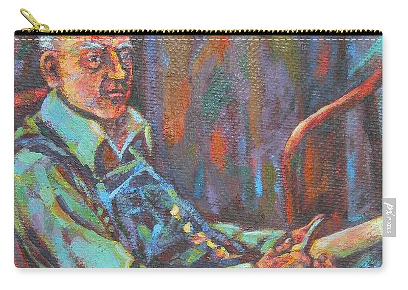 Craftsman Carry-all Pouch featuring the painting Craftsman by Kendall Kessler