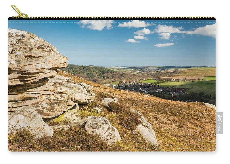 Northumberland Carry-all Pouch featuring the photograph Crags Over Rothbury by David Head