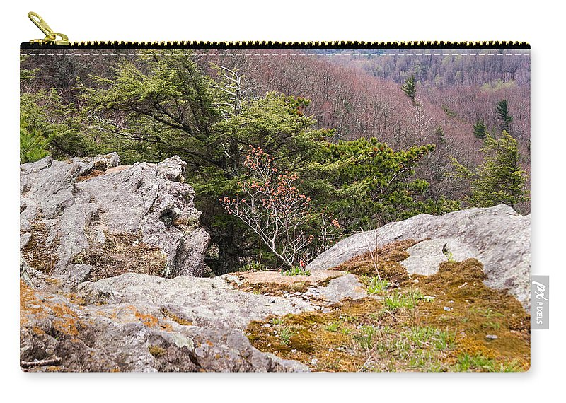 Carry-all Pouch featuring the photograph Craigs Of The Mountain by Douglas Barnett