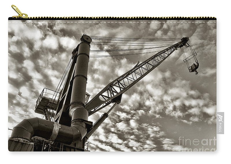 Crane Carry-all Pouch featuring the photograph Crane by Olivier Le Queinec