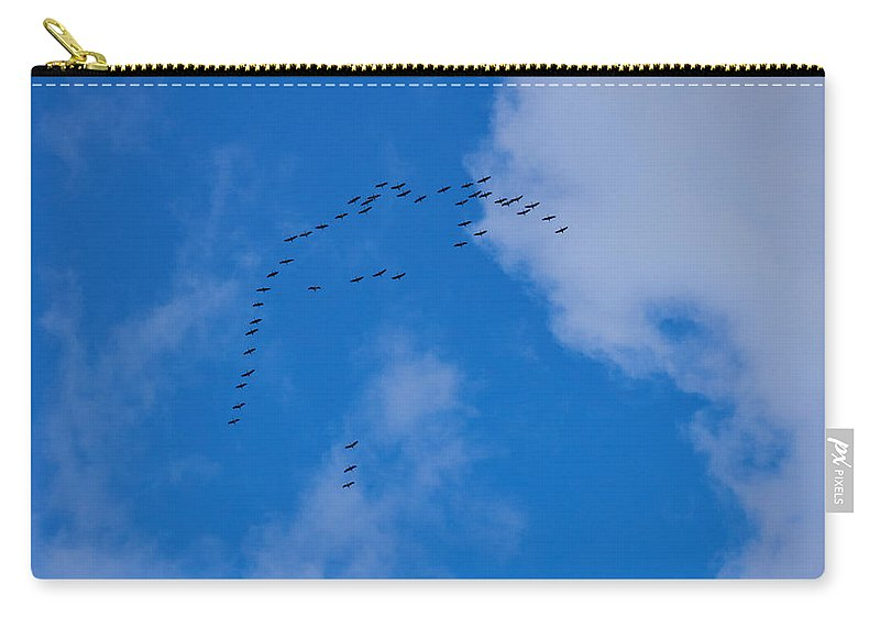 Finland Carry-all Pouch featuring the photograph Cranes by Kukka Lehto
