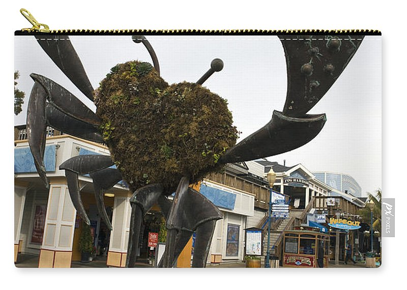 Travel Carry-all Pouch featuring the photograph Crap Sculpture Fisherman's Wharf San Francisco by Jason O Watson
