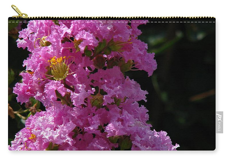 Art For The Wall...patzer Photography Carry-all Pouch featuring the photograph Crape Myrtle by Greg Patzer