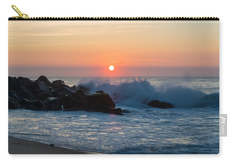 New Jersey Carry-all Pouch featuring the photograph Crashers by Kristopher Schoenleber