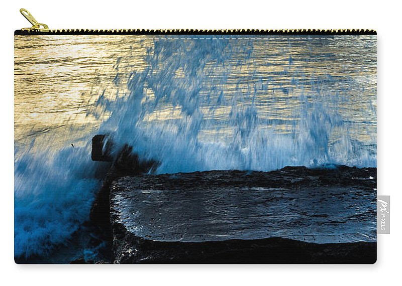 Bvi Carry-all Pouch featuring the photograph Crashing Rays And Waves by Rene Triay Photography