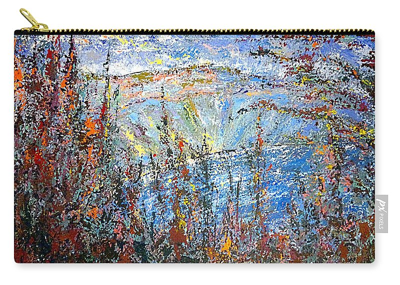 Crater Carry-all Pouch featuring the painting Crater Lake - 1997 by Michael Graham