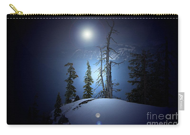 Carry-all Pouch featuring the photograph Crater Lake Midnight Oregon by Mike Nellums