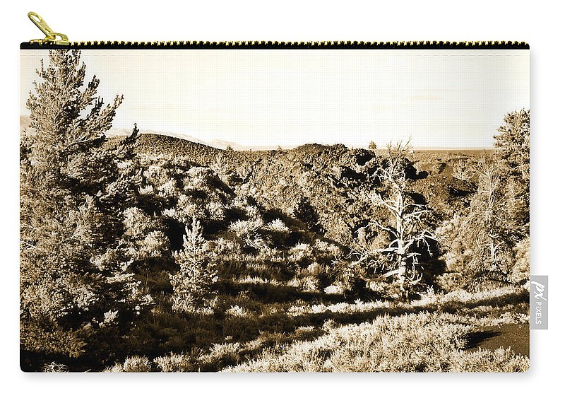 Craters Carry-all Pouch featuring the photograph Craters Of The Moon1 by Susan Kinney