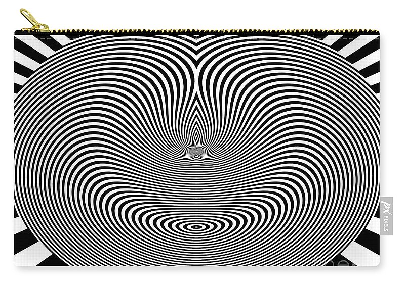 Crazy Circles Carry-all Pouch featuring the digital art Crazy Circles by Methune Hively