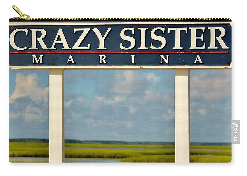 Crazy Sister Carry-all Pouch featuring the photograph Crazy Sister Marina by Cynthia Guinn