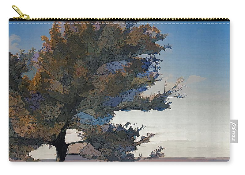 Tree Graphics Colorful Alicegipsonphotographs Carry-all Pouch featuring the photograph Crazy Tree by Alice Gipson