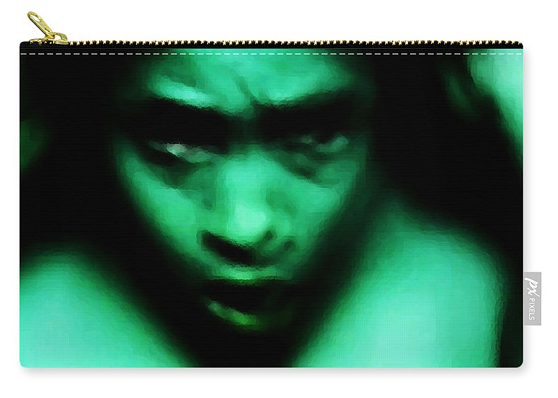 Green Carry-all Pouch featuring the photograph Crazy With Green by Jessica Shelton