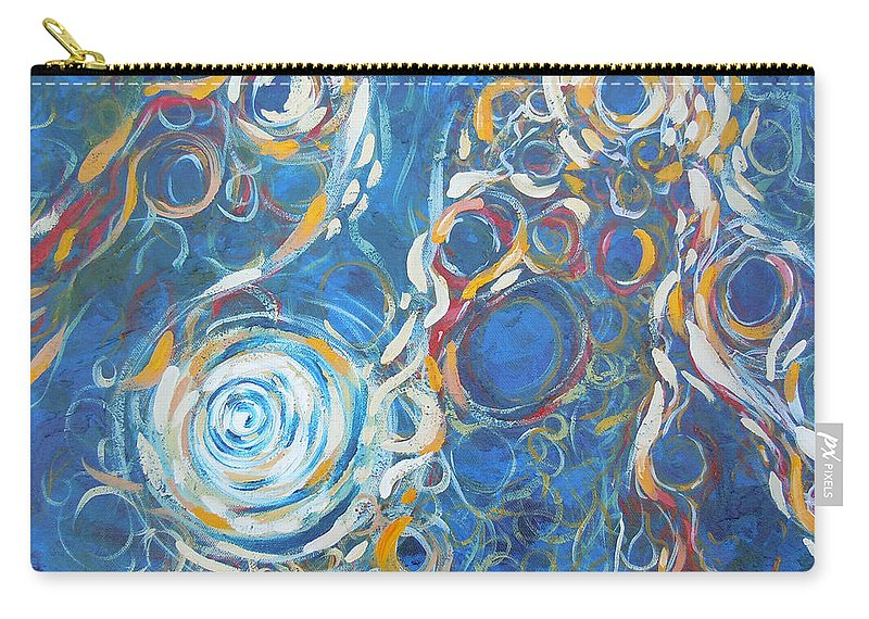 Creation Carry-all Pouch featuring the painting Creation by Tonya Henderson