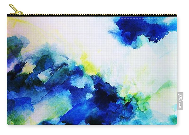 Abstract Carry-all Pouch featuring the painting Creative Forces by Frances Ku