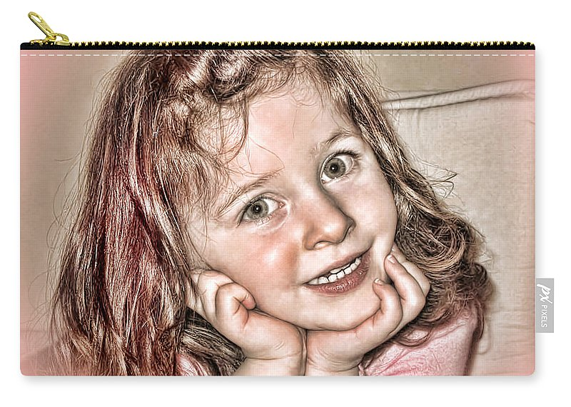 Hdr Carry-all Pouch featuring the photograph Creative Portrait Sample In Hdr by Joan Minchak
