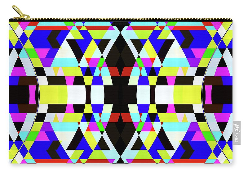 Rectangle Carry-all Pouch featuring the digital art Creative Shapes Abstract Design by Raj Kamal