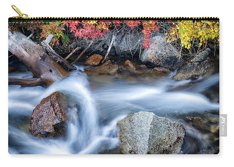 Creek Carry-all Pouch featuring the photograph Creek At North Lake Ca_1 by Greg Kluempers