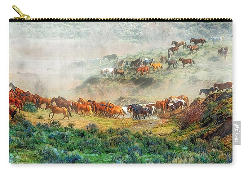 Horse Carry-all Pouch featuring the photograph Creek Crossing by Bob Keller