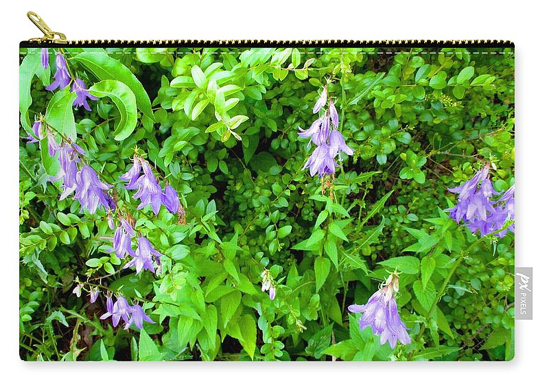 Creeping Bellflower Carry-all Pouch featuring the photograph Creeping Bellflower by Kendall Kessler