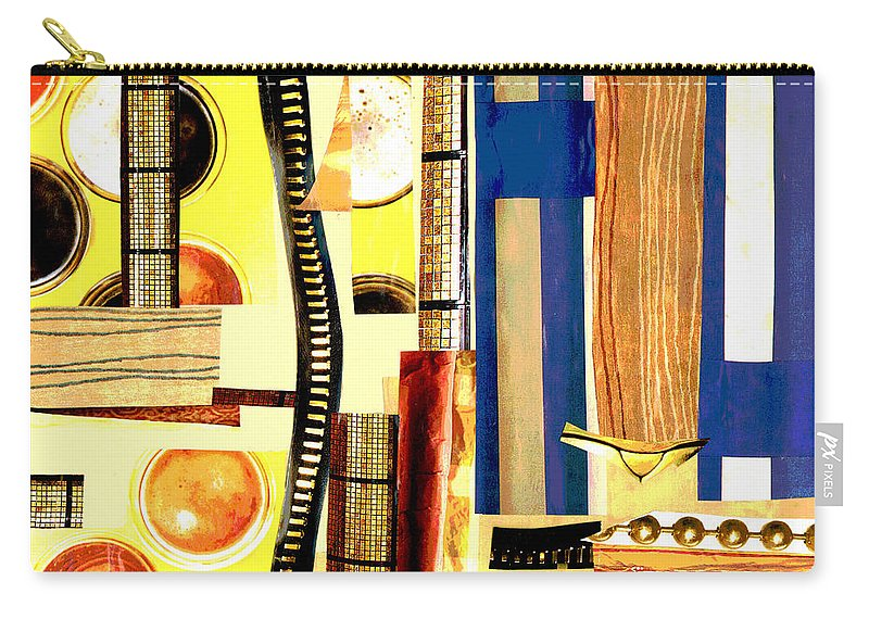Yellow Carry-all Pouch featuring the mixed media Creme Brulee by Mary Bedy