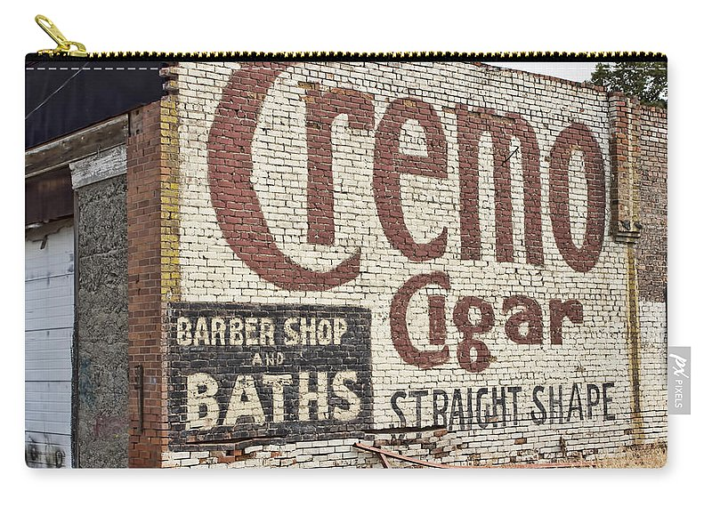 Carry-all Pouch featuring the photograph Cremo Cigar by Cathy Anderson