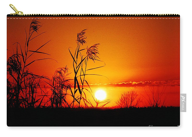 Louisiana Carry-all Pouch featuring the photograph Creole Trail Sunset by Lizi Beard-Ward