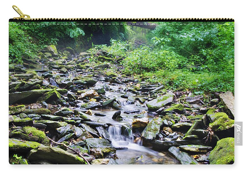 Cresheim Carry-all Pouch featuring the photograph Cresheim Creek by Bill Cannon