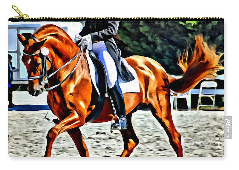 Dressage Carry-all Pouch featuring the photograph Crested by Alice Gipson