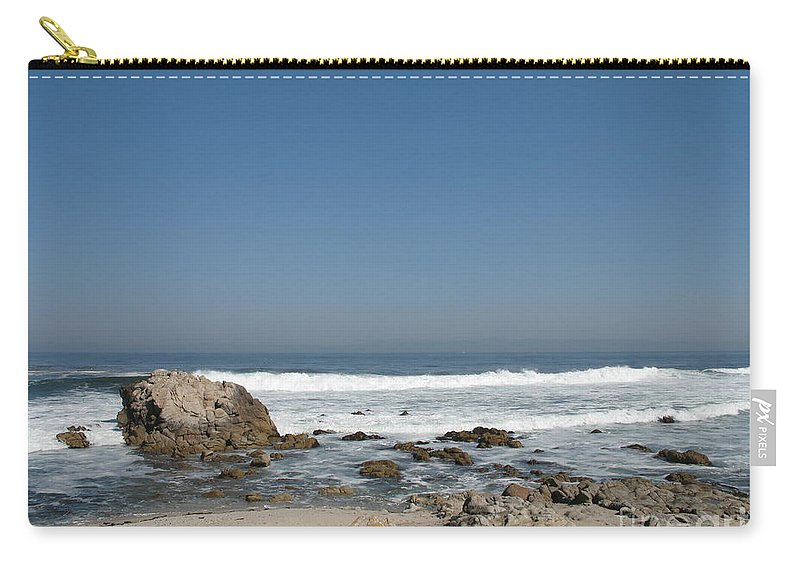 Coast Carry-all Pouch featuring the photograph Crestwaves On A California Beach by Christiane Schulze Art And Photography