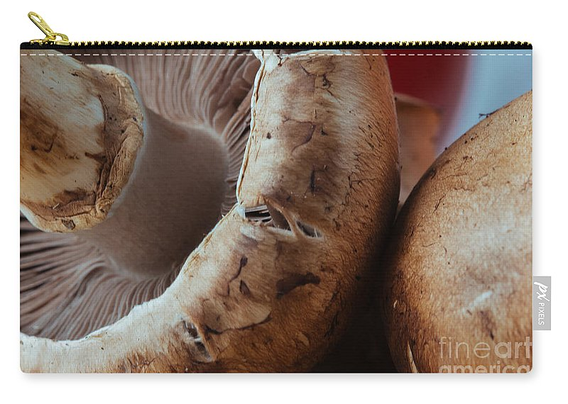 100mm Carry-all Pouch featuring the photograph Crimini Crowding by Kyra Savolainen