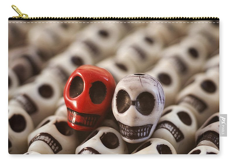 Smiles Carry-all Pouch featuring the photograph Crimson And Cream by Mike Herdering