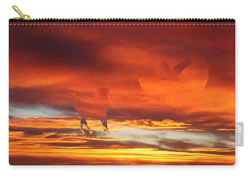 Eagle Carry-all Pouch featuring the photograph Crimson Fever by Andrea Lawrence