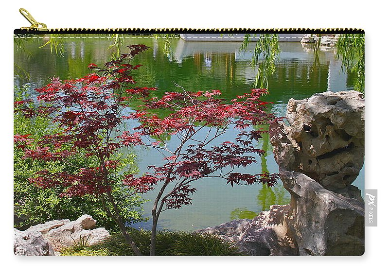 Stone Carry-all Pouch featuring the photograph Crimson Leaves by Denise Mazzocco
