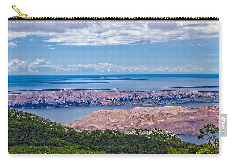 Pag Carry-all Pouch featuring the photograph Croatian Islands Aerial View From Velebit by Brch Photography