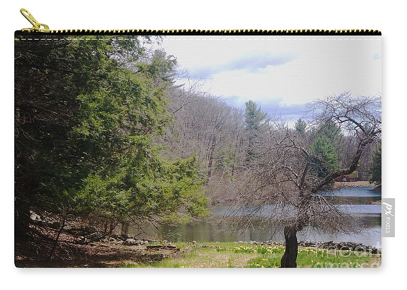 Tree Carry-all Pouch featuring the photograph Crooked Tree by Ray Konopaske