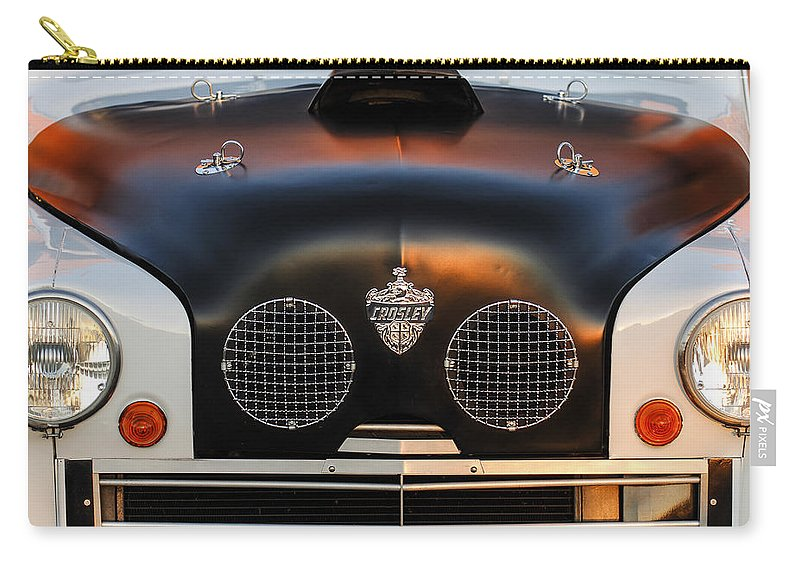 Crosley Grille Carry-all Pouch featuring the photograph Crosley Front End by Jill Reger