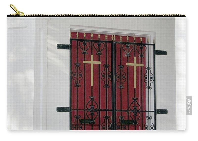 Church Carry-all Pouch featuring the photograph Key West Church Doors by Bob Slitzan