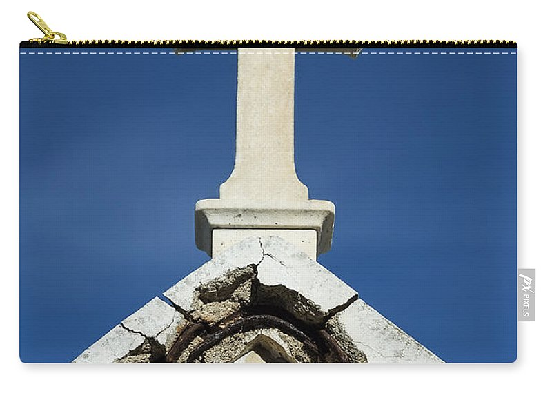Cemetery Carry-all Pouch featuring the photograph Cross by John Greim