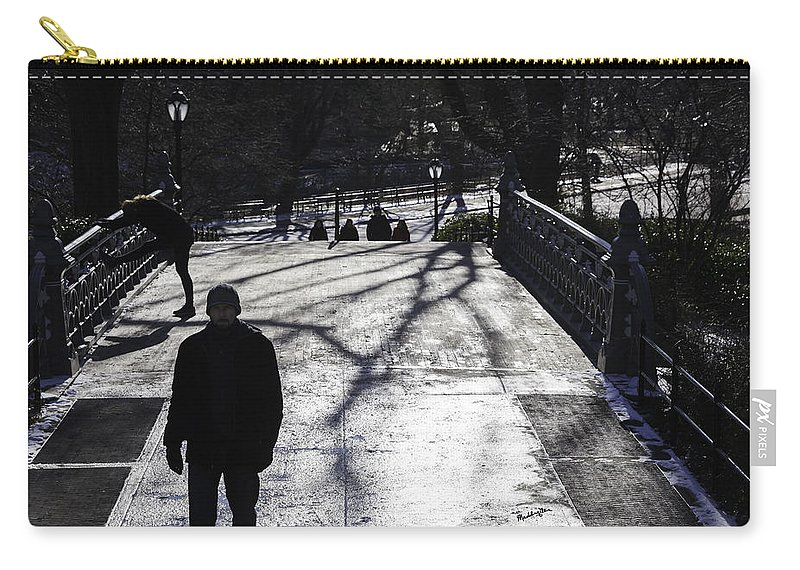 Park Carry-all Pouch featuring the photograph Crossing Over - Central Park - Nyc by Madeline Ellis