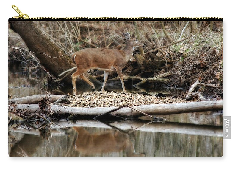 Crossing Over Carry-all Pouch featuring the photograph Crossing Over by CE Haynes