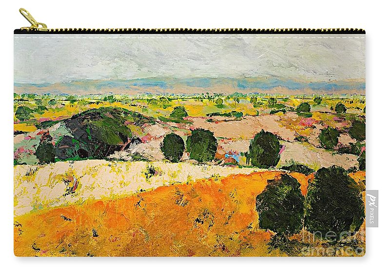 Landscape Carry-all Pouch featuring the painting Crossing Paradise by Allan P Friedlander