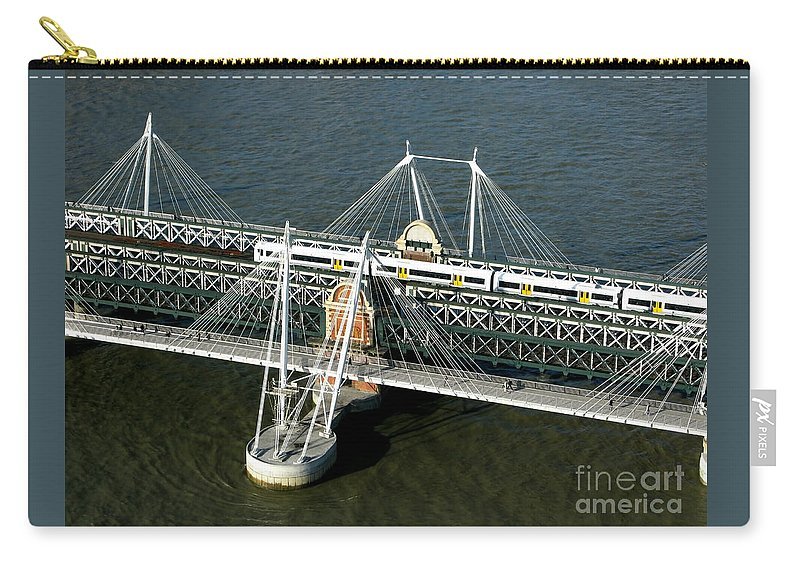 London Carry-all Pouch featuring the photograph Crossing The Thames by Ann Horn
