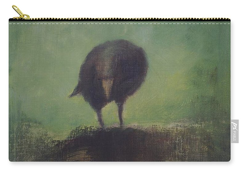 Crow Carry-all Pouch featuring the painting Crow 12 by David Ladmore