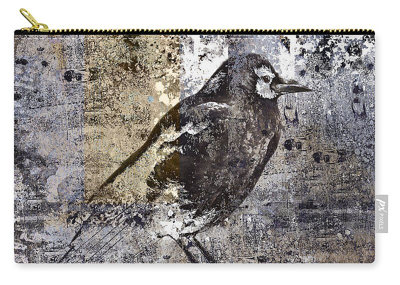 Crow Carry-all Pouch featuring the photograph Crow Number 84 by Carol Leigh
