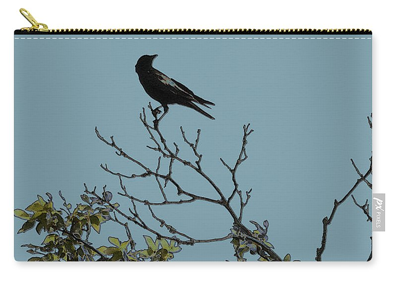 Crow Carry-all Pouch featuring the photograph Trickster Watch by Dora Hembree