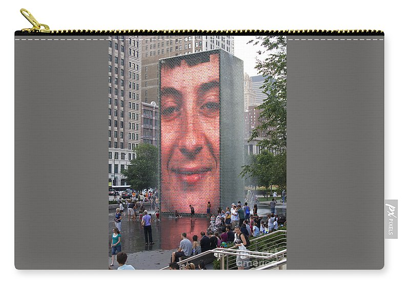 Chicago Carry-all Pouch featuring the photograph Crowd Watching by Ann Horn